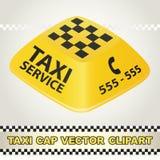 Vector Clipart del servicio del taxi del casquillo Imagenes de archivo