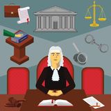 Vector clipart. Infographic judge. Profession of the judge royalty free illustration
