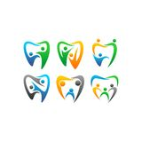 Vector clipart people dental Stock Image