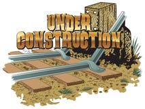 Vector clipart. Railroad tracks blockage. Under construction. Vector clipart. Under construction. Railroad tracks blockage Stock Photography