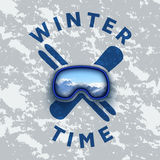 Vector clipart on the theme of winter sports. logo of snowboarding and skiing Stock Photography