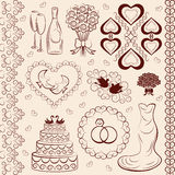 Vector clipart wedding, wedding decorations Royalty Free Stock Photography