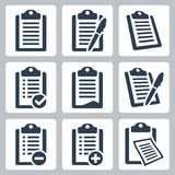 Vector Clipboard Icons Set Stock Photos