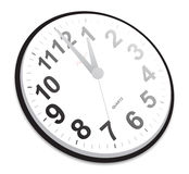 Vector Clock. A simple black colored wall clock Stock Images
