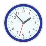 Vector clock. In dark blue frame Royalty Free Stock Image