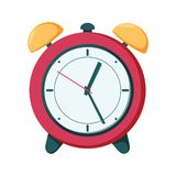 Vector clock alarm illustration time symbol, hour watch. stock illustration