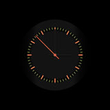 Vector clock. Vector business black clock with red pointer Stock Photography