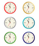 vector clock collection Royalty Free Stock Photos
