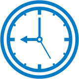 Vector clock dial illustration Stock Photos