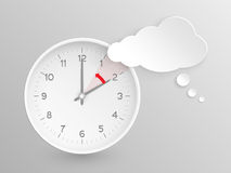 Vector clock, do not forget to fall back Stock Photo