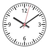 Vector clock face - easy change time Stock Image