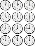 Vector clock faces Stock Photo