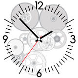 Vector clock and gears. Vector background of clock and gears Royalty Free Illustration