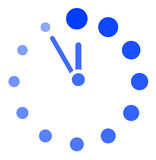 Vector clock icon Stock Photography