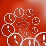 Vector clock icon background Royalty Free Stock Images