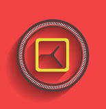 Vector clock icon flat modern design Stock Photography