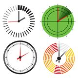 Vector clock icon Stock Images