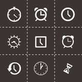 Vector clock icon set Royalty Free Stock Photos
