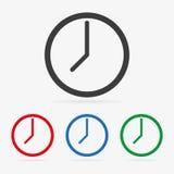 Vector clock icons Royalty Free Stock Photo