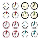 Vector Clock Icons Set. Isolated stock illustration