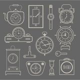 Vector clock icons set Royalty Free Stock Image