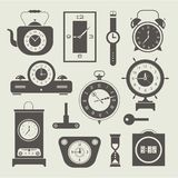 Vector clock icons set Stock Photo