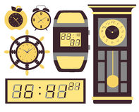 Vector clock icons set. Clock icons set, vector illustration, EPS 10 stock illustration