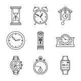Vector clock icons Royalty Free Stock Images