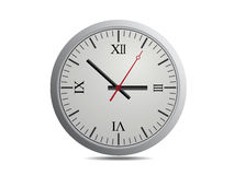 Vector Clock Isolate. On White background Royalty Free Stock Photography