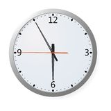 Vector Clock On A Wall Royalty Free Stock Photos