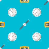 Vector clock watches seamless pattern Royalty Free Stock Photography