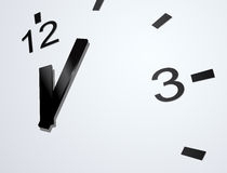 Vector clockface. Vector stylish clock face close view Royalty Free Stock Image