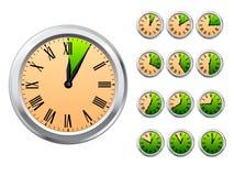 Vector clocks Stock Photography