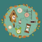 Vector clocks collection Stock Photo