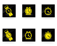 Vector clocks icons Royalty Free Stock Images
