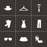 Vector clothes icons set Stock Photos