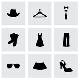 Vector clothes icons set Royalty Free Stock Photography