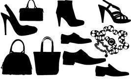 Vector clothes silhouettes Royalty Free Stock Photo