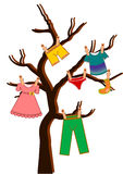 Vector Clothes Tree Stock Image