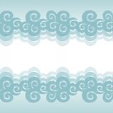 Vector cloud background. Blue sky with clouds Stock Photography