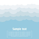 Vector cloud background Royalty Free Stock Image