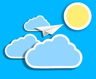 Vector cloud background. Eps 10 illustration Royalty Free Stock Photography