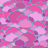 Vector cloud background Royalty Free Stock Photo