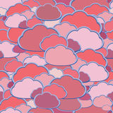 Vector cloud background Royalty Free Stock Photos