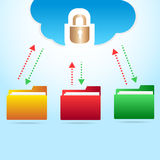 Vector cloud backup files Stock Photos