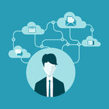 Vector cloud business connection communication Royalty Free Stock Photos