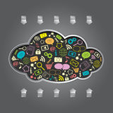 Vector cloud computing Royalty Free Stock Images