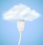 Vector cloud computing concept Stock Photo
