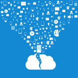 Vector cloud computing concept. Modern design temp Royalty Free Stock Photography