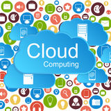Vector cloud computing concept. Modern design temp Stock Photos